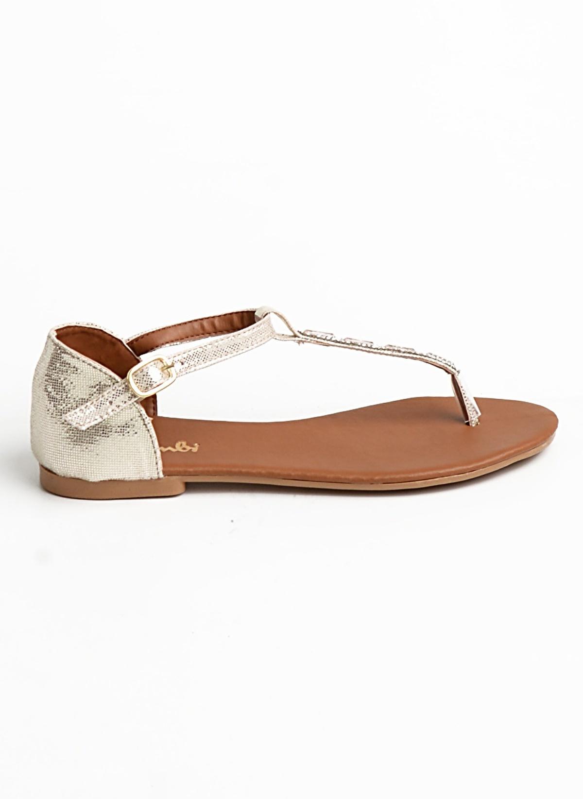 Bambi D0147161078 Bakır Kadın Sandalet